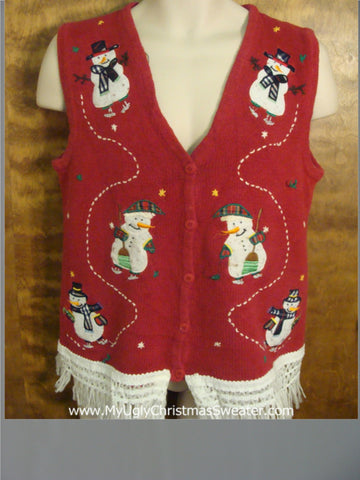 Holiday Snowman Ugly Christmas Jumper Vest