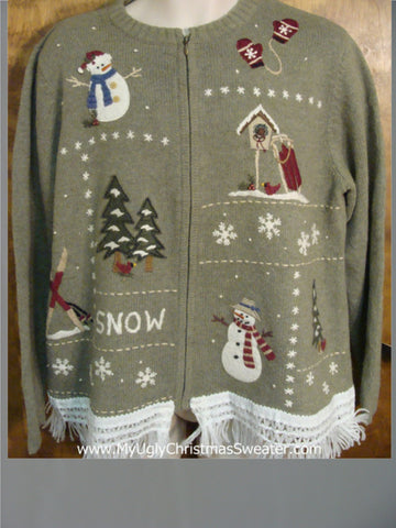 Snowmen Playing Ugly Christmas Jumper