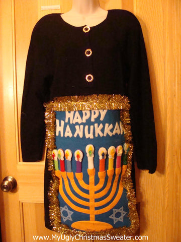 Ugly Christmas Sweater Party Tacky Hanukkah Dress