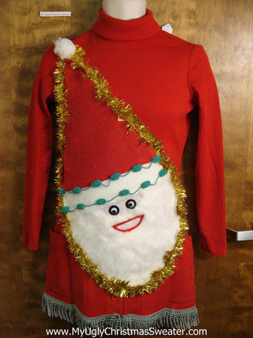 Wool Ugly Christmas Sweater Party Dress