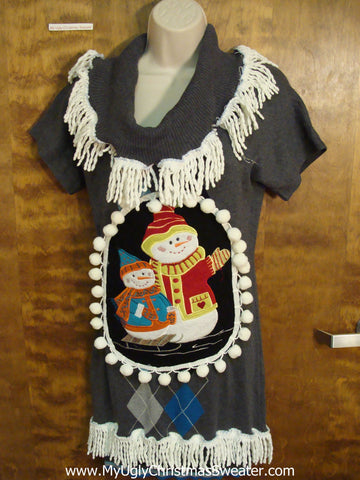 Super Cute Ugly Christmas Sweater Party Dress Size S