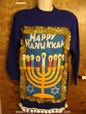 Funny Tacky Hanukkah Sweater Party Dress Size 6