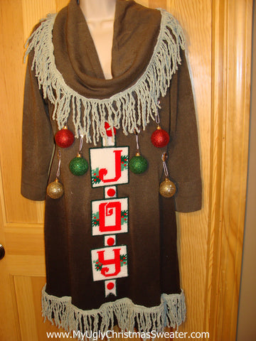 Ugly Christmas Sweater Party Tacky Dress Size L (d16)
