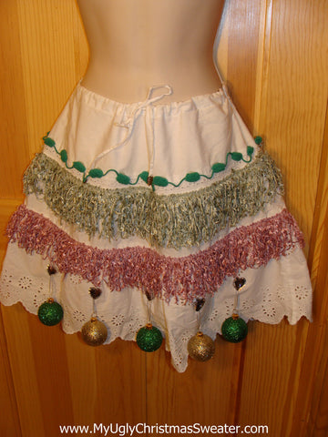 Ugly Christmas Sweater Party Tacky Skirt (dress alternative)