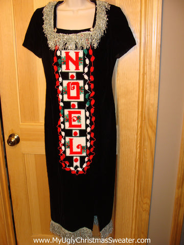 Ugly Christmas Sweater Party Tacky Dress (d22)