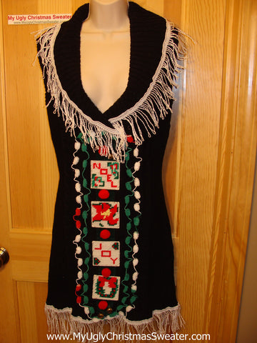 Ugly Christmas Sweater Party Tacky Dress (d26)