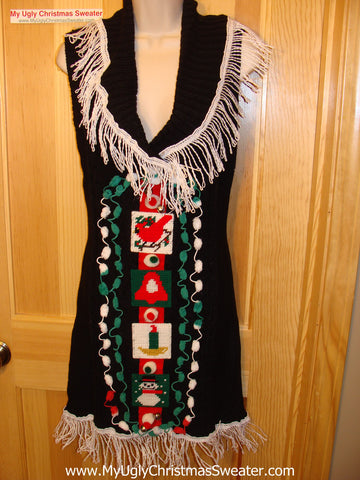 Ugly Christmas Sweater Party Tacky Dress (d27)