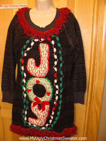 Ugly Christmas Sweater Party Tacky Dress JOY (d39)