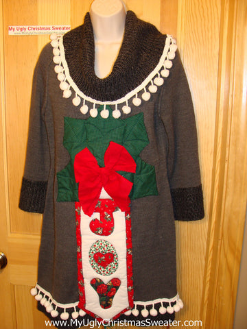 Ugly Christmas Sweater Party Tacky Dress JOY (d49)