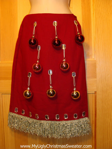 Ugly Christmas Sweater Party Tacky Skirt Size 8 (dress alternative)