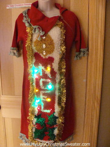 Ugly Christmas Sweater Party Tacky Dress (d59)