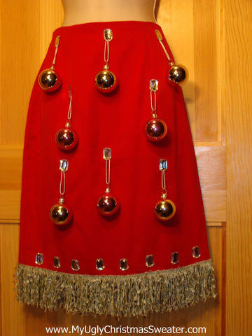 Ugly Christmas Sweater Party Tacky Skirt Size 10 (dress alternative)