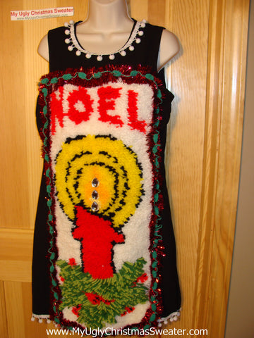 Ugly Christmas Sweater Party Tacky Dress Hook Rug NOEL (d60)