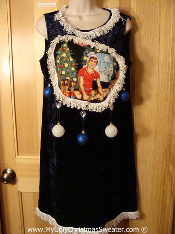 Ugly Christmas Sweater Party Tacky Dress Hottie Guy & Real Ornaments (d86)