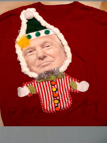 Donald Trump Red Christmas Sweater