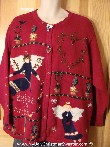 Tacky Christmas Sweater Angels Wms / Mens XXXL (f1255)