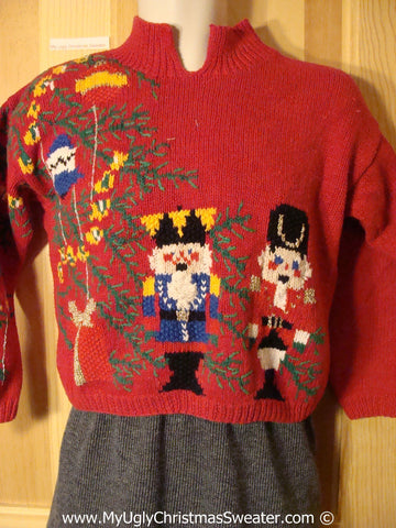 Child Size Ugly Christmas Sweater Party 80s Nutcracker Tacky Christmas Sweater (f1283)