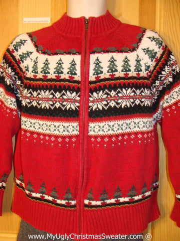 Nordic Style Tacky Christmas Sweater (f1295)