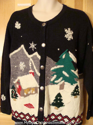 Tacky Christmas Sweater with 2sided Winter Theme (f1350)