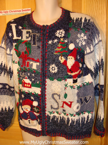"Tacky Ugly Christmas Sweater :""Let it Snow"" (f13)"