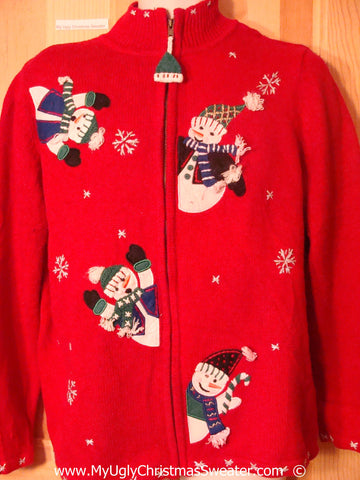 Cheesy Red 2sided Christmas Sweater
