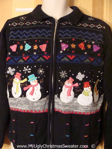 Dancing Snowmen Christmas Sweater