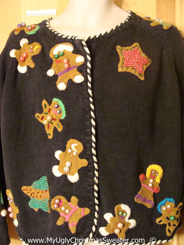 Gingerbread Cardigan Christmas Sweater