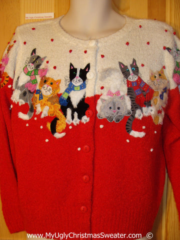 Crazy Cat Lady 2sided Christmas Sweater