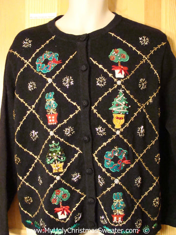 Bling Trees, Plants, Wreaths Christmas Sweater