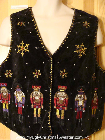 Christmas Nutcracker Themed  Vest Wm - Mens XXXL