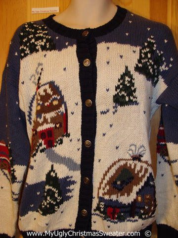 Two Sided Winter Wonderland Festive Christmas Sweater