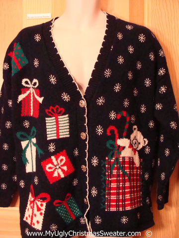 80s Two Sided Vtg Festive Christmas Sweater