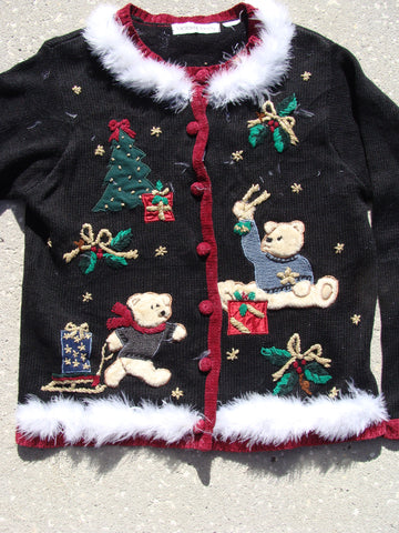 Bears in Sweaters Christmas Cardigan