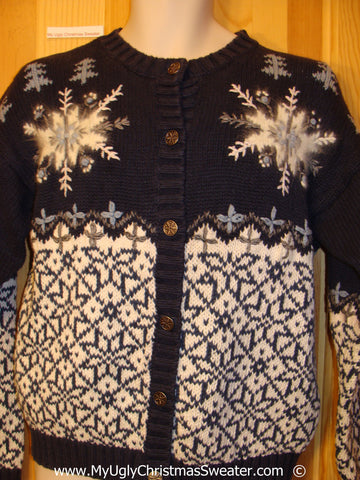 Two Sided Nordic Cardigan Festive Christmas Sweater