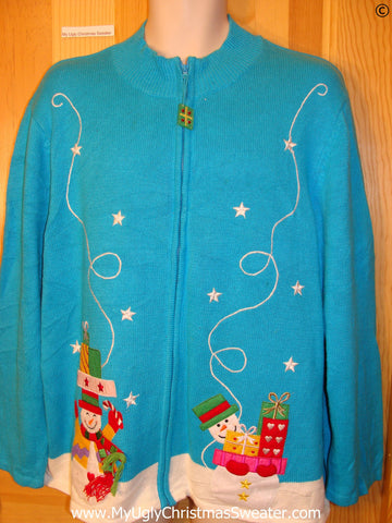 Bright Blue Big Wm  Mens Christmas Sweater