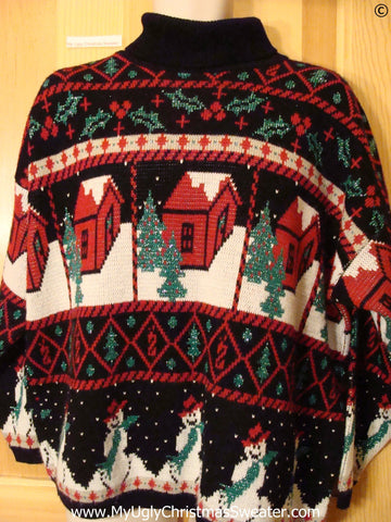 80s Holy Grail Corny Best Christmas Sweater Wm Mens XXL 2XL