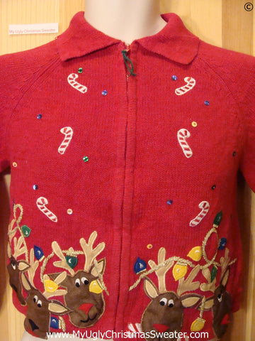 Child Red Cheap Christmas Sweater with Reindeer