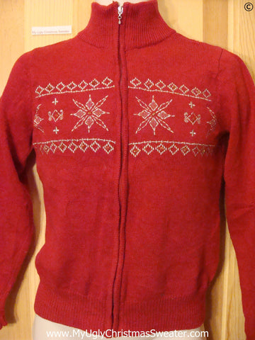 Cheap Red Cheap Christmas Sweater with Snowflakes