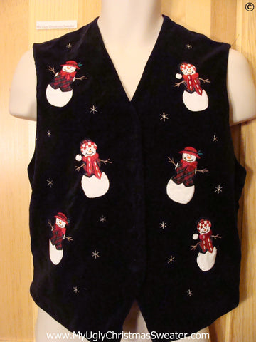 Cheap Cheap Christmas Sweater Vest with Snowmen