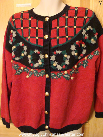 Cardigan Festive Red Cheap Christmas Sweater