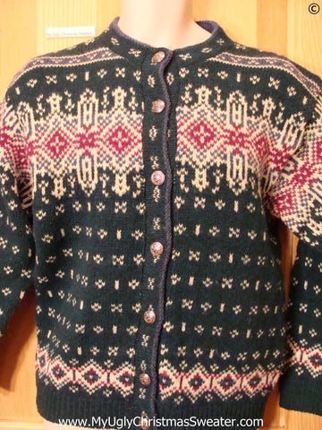 Two Sided Nordic Ornate Tacky Christmas Sweater