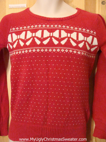Cheap Child Size Red Tacky Christmas Sweater