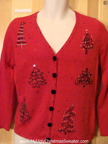 Cheap Red Christmas Tree Tacky ugly xmas Sweater