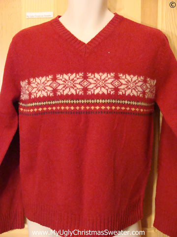 Cheap Red Snowflake Tacky Christmas Sweater