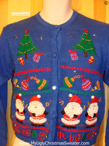 Child Blue HoHo Tacky Christmas Sweater