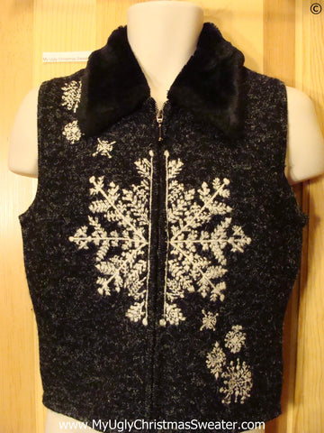 Snowflake Tacky Christmas Vest Child or XS
