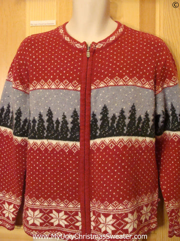 2sided Winter Theme Tacky Christmas Sweater