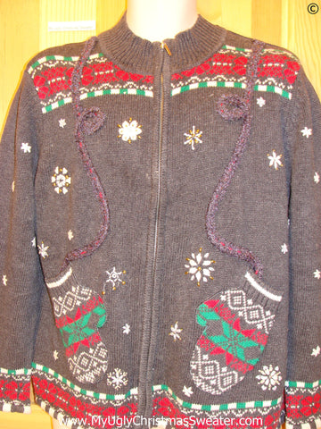 Mittens Themed Tacky Christmas Sweater