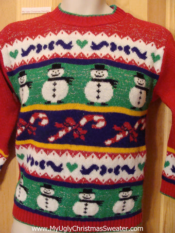 Child Size 80s Bright Bold Christmas Sweater