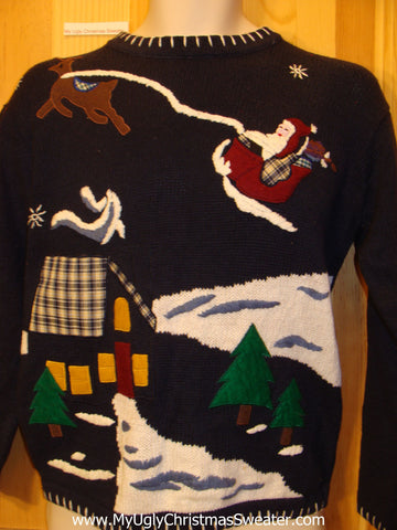 Reindeer, Santa Tacky Christmas Sweater